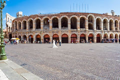 Roman Arena in Verona Stock Photos