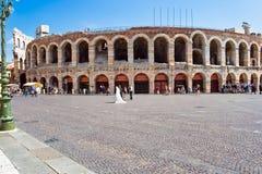Roman Arena in Verona stock photos