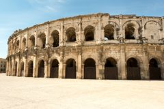 Roman Arena von Nimes Lizenzfreie Stockfotos