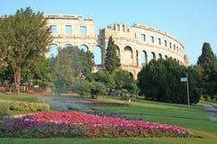 roman arenacroatia pula Arkivbild