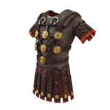Roman armor 3d illustration. Isolated on white background Royalty Free Stock Photo