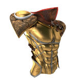 Roman armor 3d illustration isolated on white background Royalty Free Stock Image