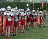 Roman Army. Marched for miles stock photography