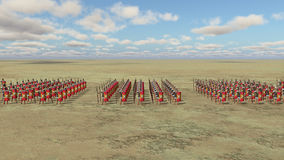 Roman army. Computer generated 3D illustration with Roman legionaries stock illustration