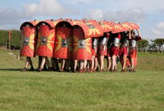 Roman Army Defence position Royalty Free Stock Photo