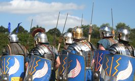 Roman Army Marches On. Nice Uniform and weapon detail royalty free stock photos