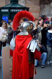 Roman army near colosseum at ancient romans historical parade Stock Image