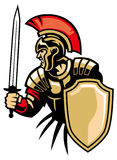 Roman army. Vector of roman army with sword and shield stock illustration