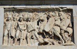 Roman Army vs Barbarian Stock Photo