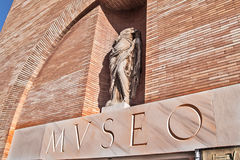Roman Art National Museum i Merida Arkivbild