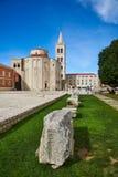 Roman Artefacts e igrejas em Zadar, Croácia Fotos de Stock