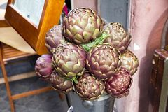 Roman artichokes Stock Photos