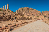 Roman avenue in nabatean city of  petra jordan Stock Images