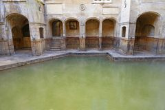 Roman baden, bad, Engeland Stock Foto's