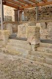 Roman baden in Spanje, Caldes DE Malavella Stock Afbeeldingen