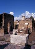 Roman bar, Herculaneum, Italy. Royalty Free Stock Photos