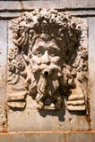 Roman bas-relief. Bakhus stock photo