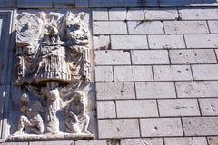 A roman bas-relief in France La Turbie stock photos