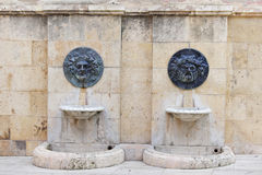 Roman bas-reliefs stock images