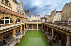 Roman bath. In bath, england Royalty Free Stock Photography
