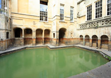 Roman bath at Bath in England Royalty Free Stock Image