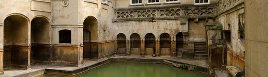 Roman Bath brunnsort, bad, England arkivbilder
