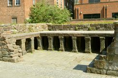 Roman Bath a Chester fotografia stock