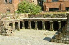 Roman Bath in Chester stock foto