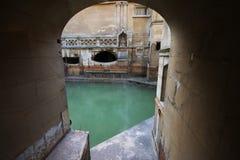 Roman Bath, ciudad BRITÁNICA del baño es un sitio del patrimonio mundial de la UNESCO Septiembre Foto de archivo