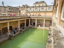 Roman Bath con agua verde Fotografía de archivo libre de regalías