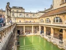 Roman Bath con agua verde Imagenes de archivo