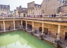 Roman Bath con agua verde Foto de archivo libre de regalías