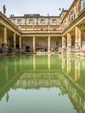 Roman Bath con agua verde Fotos de archivo libres de regalías