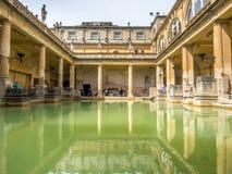 Roman Bath con agua verde Imágenes de archivo libres de regalías
