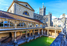 Roman Bath England Royaltyfri Foto