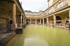 Roman Bath in England Royalty Free Stock Photo