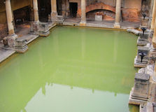 Roman bath. The Great Bath at the Roman Baths in Bath England Stock Photos