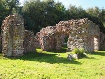 Roman Bath House em Ravenglass, Inglaterra do norte Imagens de Stock Royalty Free