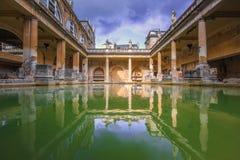 Roman Bath, Inghilterra fotografia stock