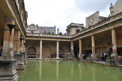 Roman Bath Museum in West England Stock Photography