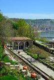 Roman bath in the yard of Balchik palace Royalty Free Stock Photos