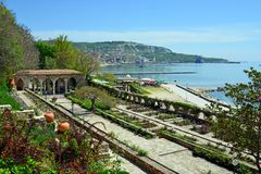 Roman bath in the yard of Balchik palace Stock Photos