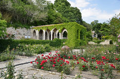 Roman bath   in the yard of Balchik palace , Bulgaria Royalty Free Stock Photos
