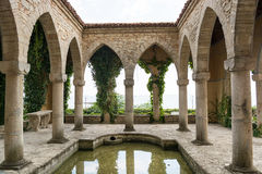 Roman bath in the yard of Balchik palace, Bulgaria Stock Photography