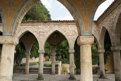 Roman bath in the yard of Balchik palace, Bulgaria Stock Image