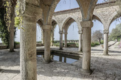 Roman bath in the yard. Royalty Free Stock Image