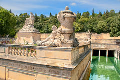 Roman bathes in Nimes Royalty Free Stock Images