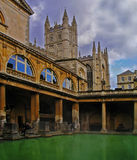 Roman Baths. In England royalty free stock photography