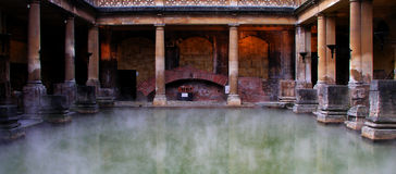 Roman Baths. In Bath city England stock photo