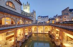 Roman baths. Ancient roman spa at bath england Royalty Free Stock Image
